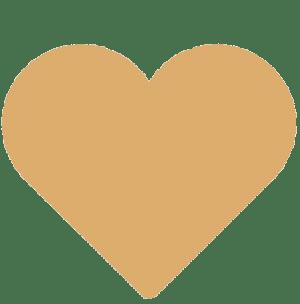 Corazón color ocre